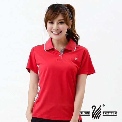 【遊遍天下】MIT台灣製女款抗UV涼爽吸濕排汗能POLO衫S076紅