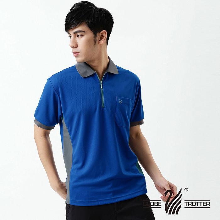 【遊遍天下】MIT台灣製男款抗UV涼爽吸濕排汗機能POLO衫SV037寶藍XL
