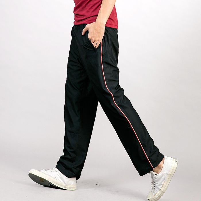 【遊遍天下】MIT中性款抗UV吸濕排汗長褲P116黑色