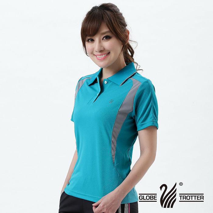 【遊遍天下】MIT台灣製女款抗UV涼爽吸濕排汗機能POLO衫S063水綠-夏出清XL