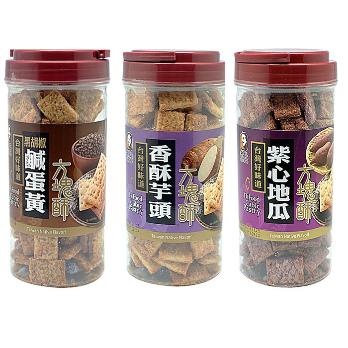 老楊-黑胡椒鹹蛋黃方塊酥系列任選*12罐紫心地瓜