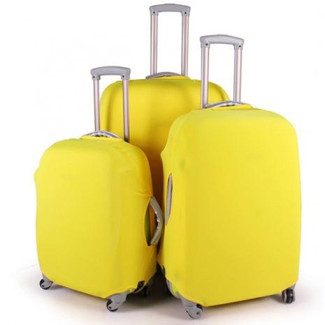 【Joytour】旅行箱彈力布保護套 24吋(三色)黃色24吋