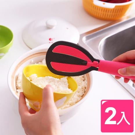 日本熱賣 超便利多功能兩用飯匙/淘米棒(2入)
