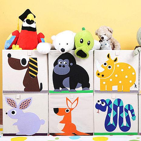 【佶之屋】超Q可愛動物摺疊方形收納箱(7款)-特賣獨角獸