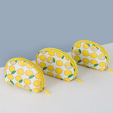 【韓版】可愛繽紛防潑水輕便貝殼化妝包(4色)彩虹魚兒
