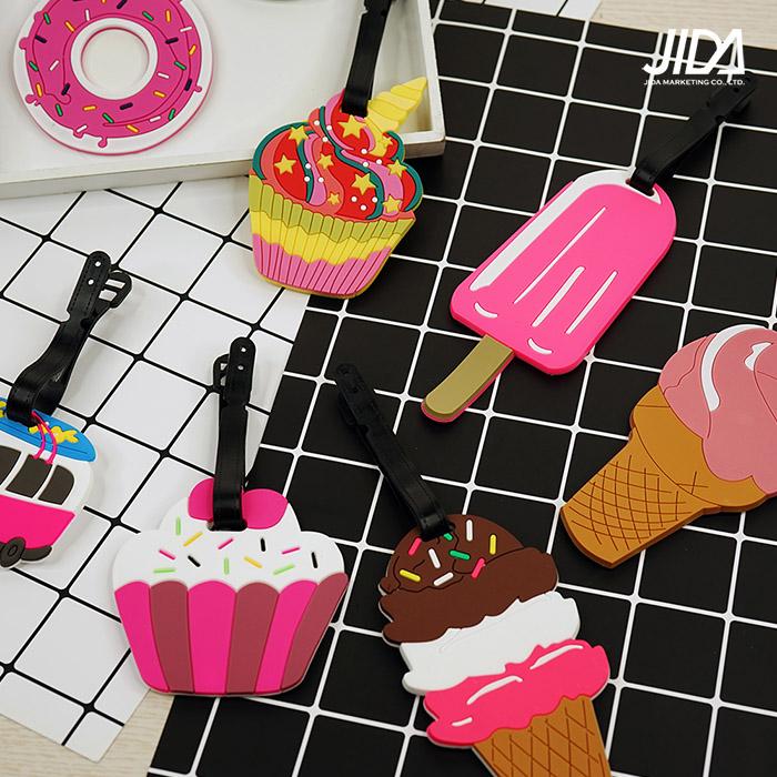 【韓版】Q版可愛行李箱吊牌-交通工具/甜食款(顏色隨機出貨)-加購