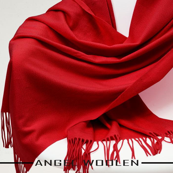 【ANGEL WOOLEN】CASHMERE厚披肩(紅色)