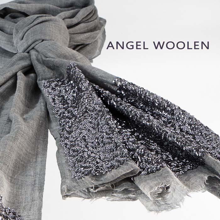 【ANGEL WOOLEN】巧奪天工pashmina手工柔軟厚披肩(灰色)-服飾‧鞋包‧內著‧手錶-myfone購物