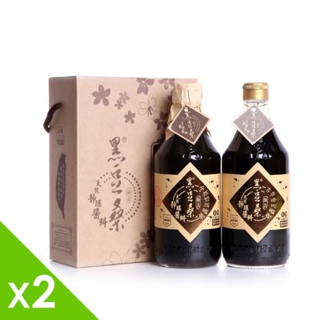 【黑豆桑】金缸禮盒組(金豆醬油x2+缸底醬油x2)