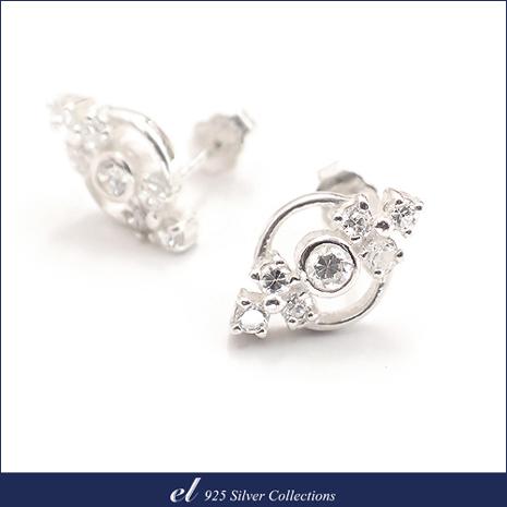 el 925銀飾 - 方晶鋯石純銀耳環 Symbol-服飾‧鞋包‧內著‧手錶-myfone購物
