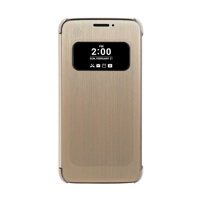 【LG】 G5 原廠透視感應皮套-金-手機平板配件-myfone購物