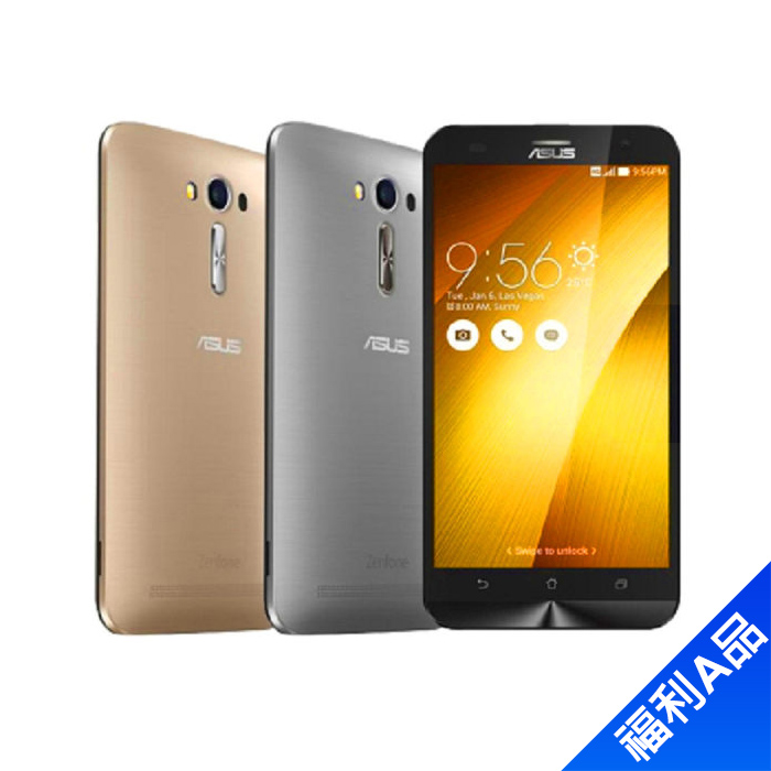 ASUS Zenfone 2 (ZE551ML)4G/64G(髮絲紋灰)5.5吋雙卡LTE智慧機【拆封福利品A級】