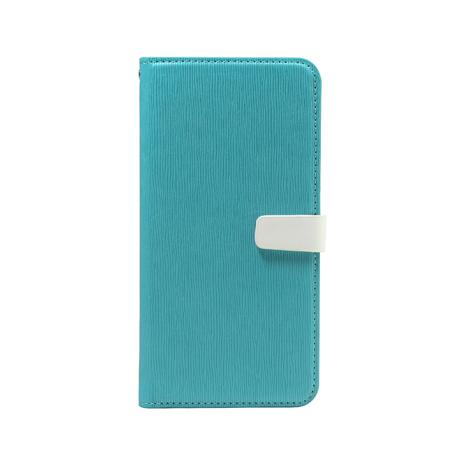 【CASESHOP】ZenFone 3 ZE552KL木紋側立皮套-蒂芬妮藍