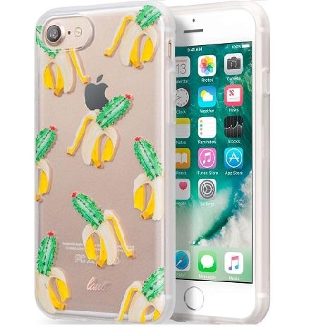 【LAUT】iPhone 7 Plus透明雙料保護套-仙人掌