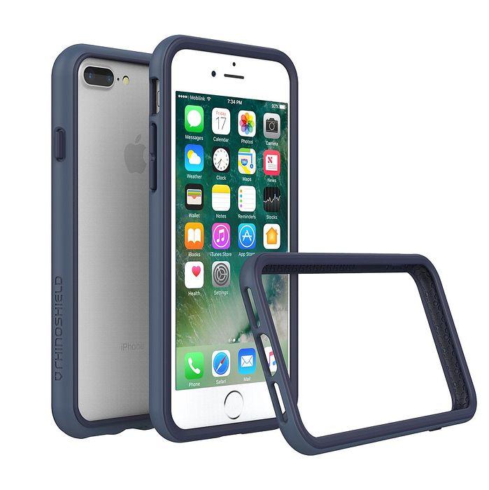 iPhone 7 Plus犀牛盾防摔邊框殼-深藍