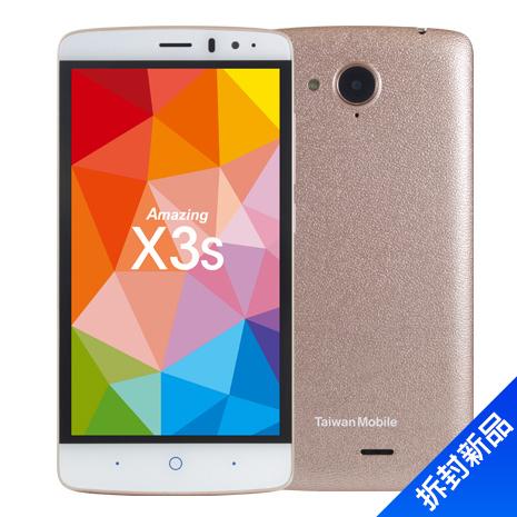 TWM Amazing X3s 16G(香檳金)(4G)【拆封新品】-手機平板OUTLET-myfone購物