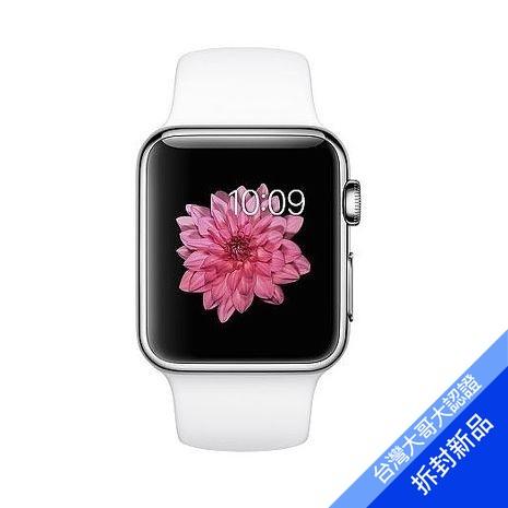 【拆封新品】Apple Watch 38 Series 1 特別版 (不鏽鋼錶殼搭珍珠色運動錶帶)(福利品)