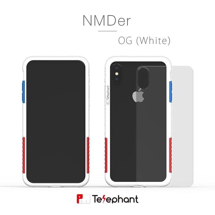 太樂芬 Telephant NMDER iPhone XS Max 抗污防摔邊框透殼-OG白