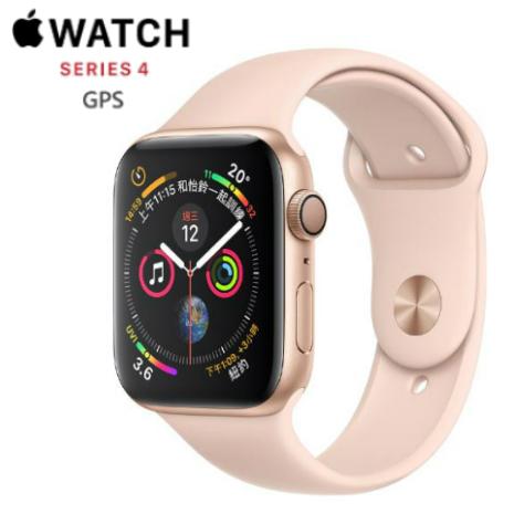 Apple Watch Series4 GPS版-金色鋁金屬錶殼配淺粉紅色運動錶帶_44mm(MU6F2TA/A)