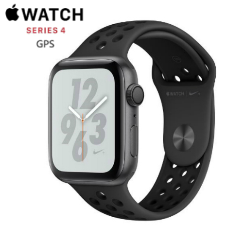 【直降】Apple Watch Nike+ Series 4 44mm GPS 版 太空灰鋁金屬錶殼配上煤黑色配黑色 Nike 運動錶帶 (MU6L2TA/A)