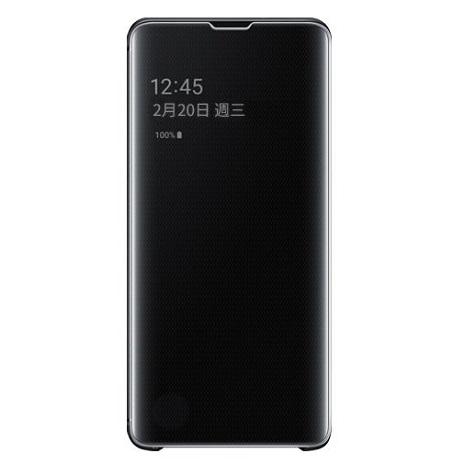 Samsung S10+ 原廠全透視感應皮套-黑(活動)