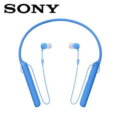 SONY WI-C400 無線藍牙頸掛式耳機-藍 (台灣索尼)