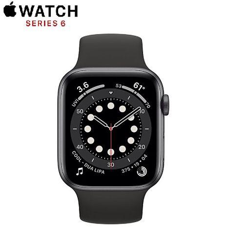 Apple Watch Series 6 GPS+LTE版 44mm 太空灰鋁金屬錶殼配黑色運動錶帶 (MG2E3TA/A)