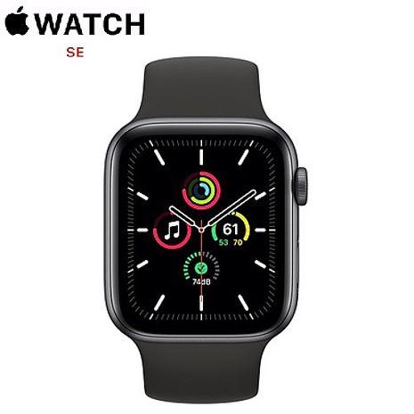【快速出貨】Apple Watch SE GPS版 44mm 太空灰鋁金屬錶殼配黑色運動錶帶(MYDT2TA/A)
