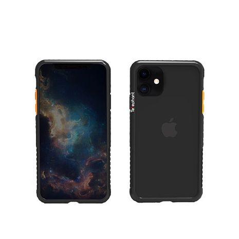 iPhone 12/12 Pro 太樂芬抗污防摔邊框透殼-黑戀橘(活動)