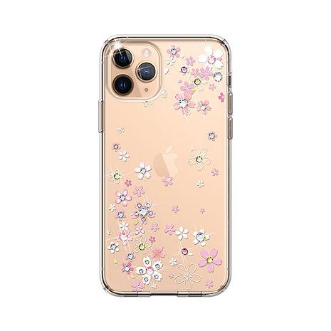 iPhone 12/12 Pro apbs軍規清透防摔鑽殼-浪漫櫻