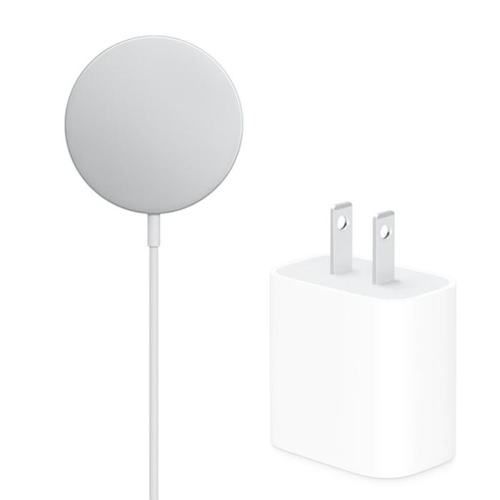 【快速出貨】Apple MagSafe 充電器 (MHXH3TA/A) 白+Apple 20W USB-C 電源轉接器 (MHJA3TA/A) 白【原廠 無線快充組】