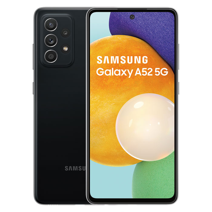 Samsung Galaxy A52 8GB/256GB(黑) 6.5吋防水5G智慧手機【藍芽耳機殼套行電組】