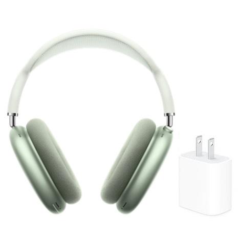 【快速出貨】Apple 原廠 Airpods Max 無線耳罩式藍牙耳機 MGYN3TA/A 綠(活動)【含原廠20W充電頭】
