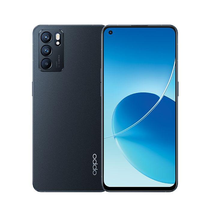 【快速出貨】OPPO Reno6 6.43吋5G智慧手機 8G/128G 夜海黑【行電保護殼組】