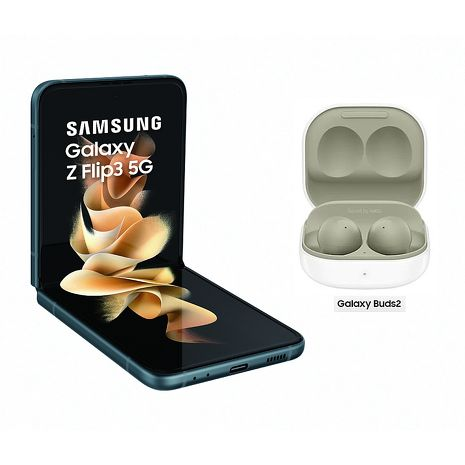 【快速出貨】Samsung Galaxy Z Flip3 5G F7110 8GB/256GB 石墨綠【Galaxy Buds 2組合】