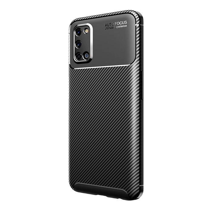 【快速出貨】Samsung A52s 碳纖維紋防摔保護殼-黑