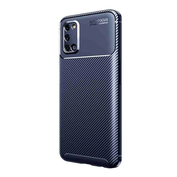 【快速出貨】Samsung A52s 碳纖維紋防摔保護殼-藍
