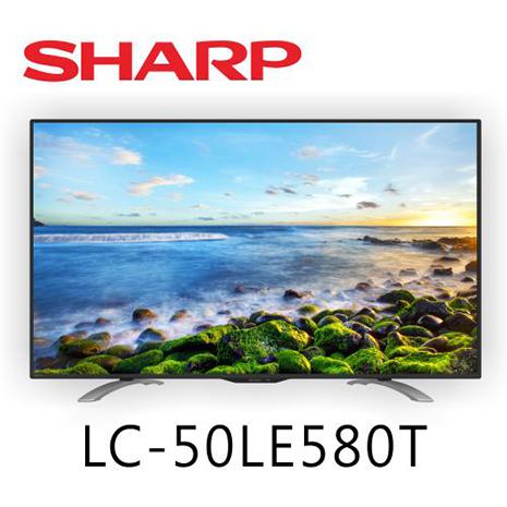 SHARP夏普 50吋 FHD連網液晶電視LC-50LE580T*送基本安裝+Ducle韓國舒適毯