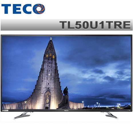 TECO東元 50吋 真4K Smart液晶顯示器+視訊盒TL50U1TRE*送尚朋堂14吋立扇+Ducle韓國舒適毯