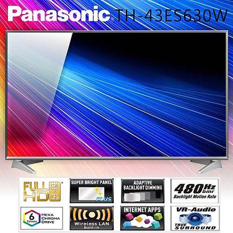 Panasonic國際 43吋FHD IPS LED智慧聯網顯示器+視訊盒(TH-43ES630W)*送雙星牌14吋立扇+SMART-X10行動電源