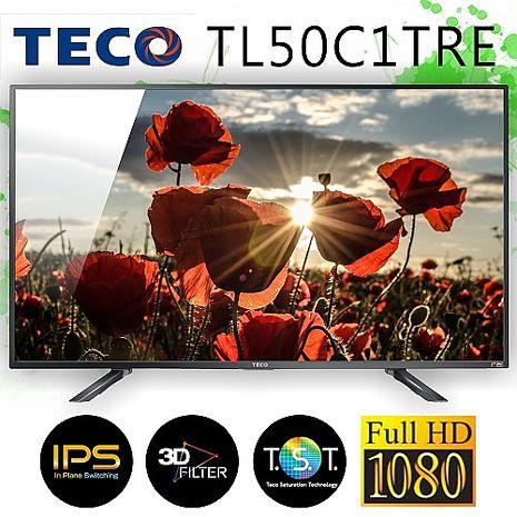 TECO東元 50吋 FHD 廣色域不閃屏低藍光液晶顯示器+視訊盒(TL50C1TRE)