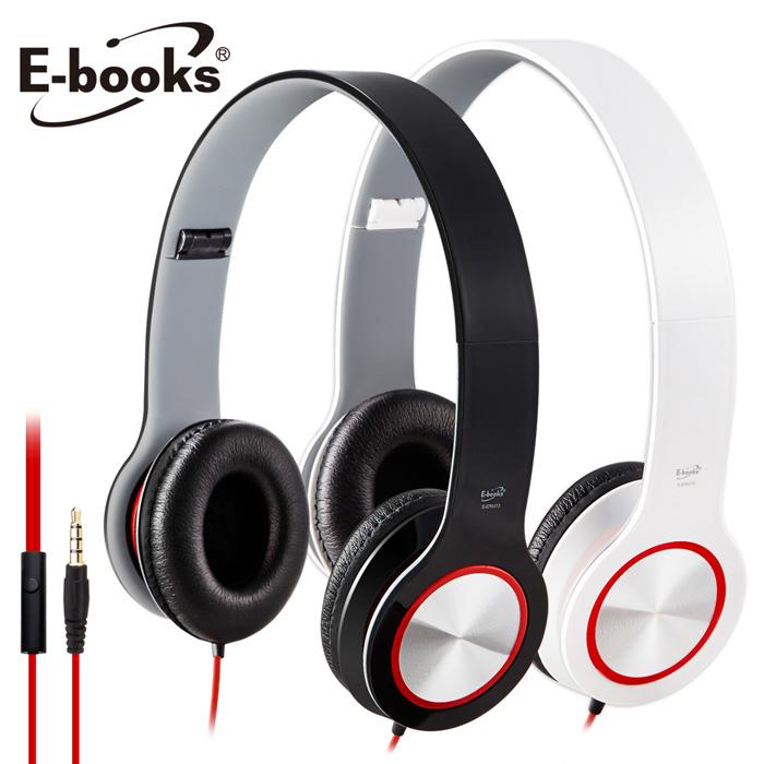 E-books S13 智慧手機接聽鍵摺疊耳機(活動)黑