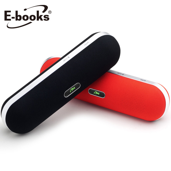 E-books D7 高階款雙喇叭NFC藍芽音箱送X29雙系統通用線紅色