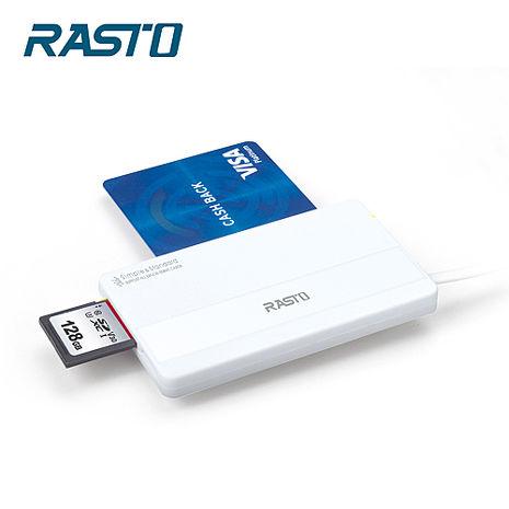 RASTO RT4 超薄型晶片ATM+記憶卡複合讀卡機(活動)