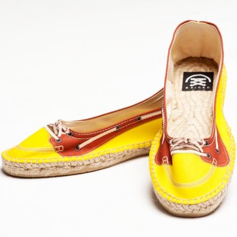 【Bsided】 Kayak Yellow Ballet 仿真時尚設計印刷休閒鞋(女)