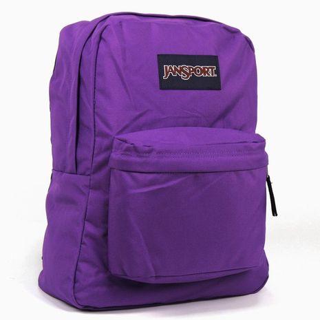 JanSport 校園背包(SUPER BREAK)-黑夜紫