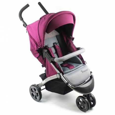 YIP Baby 歐式經典豪華三輪推車(附防風保暖腳套)-紫