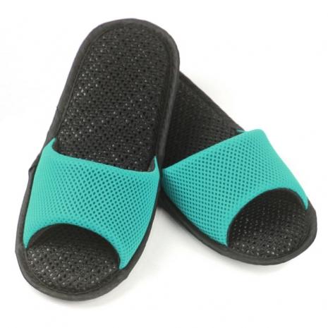 AC Rabbit 開口型低均壓氣墊拖鞋(馬卡龍色系)-湖水綠L