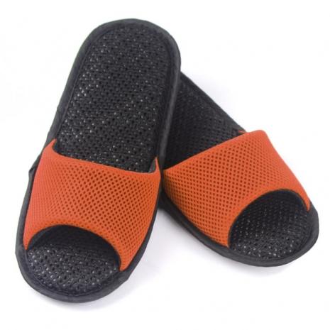 AC Rabbit 開口型低均壓氣墊拖鞋(馬卡龍色系)-活力橘M