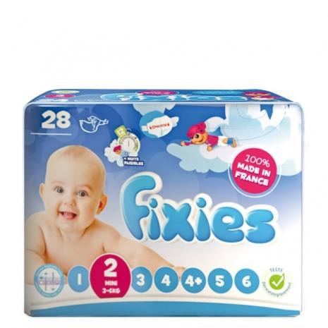Fixies寶貝愛因斯坦長效型嬰兒尿布(S)2號 (2包裝)